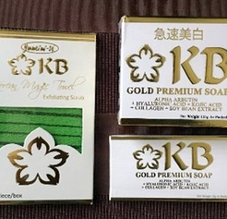 KB Whitening soaps with Magic towel new