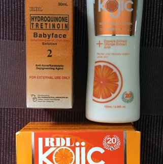 rdl kojic lotion soap and No. 2 new