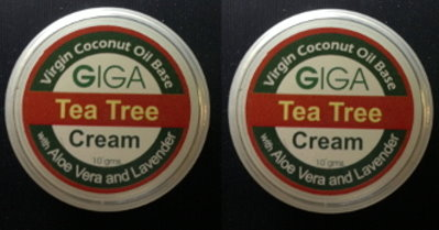 2 Giga VCO Anti Itch Tea Tree Cream with Aloe Vera Lavender