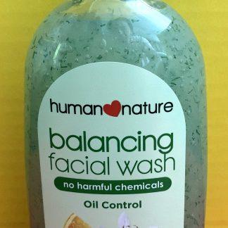 human nature facial wash