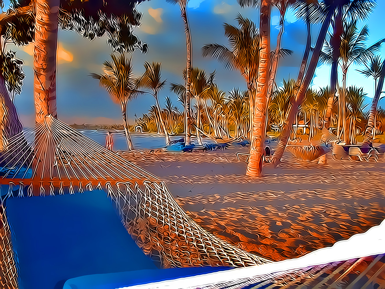 Free Photo Beach Hammocks