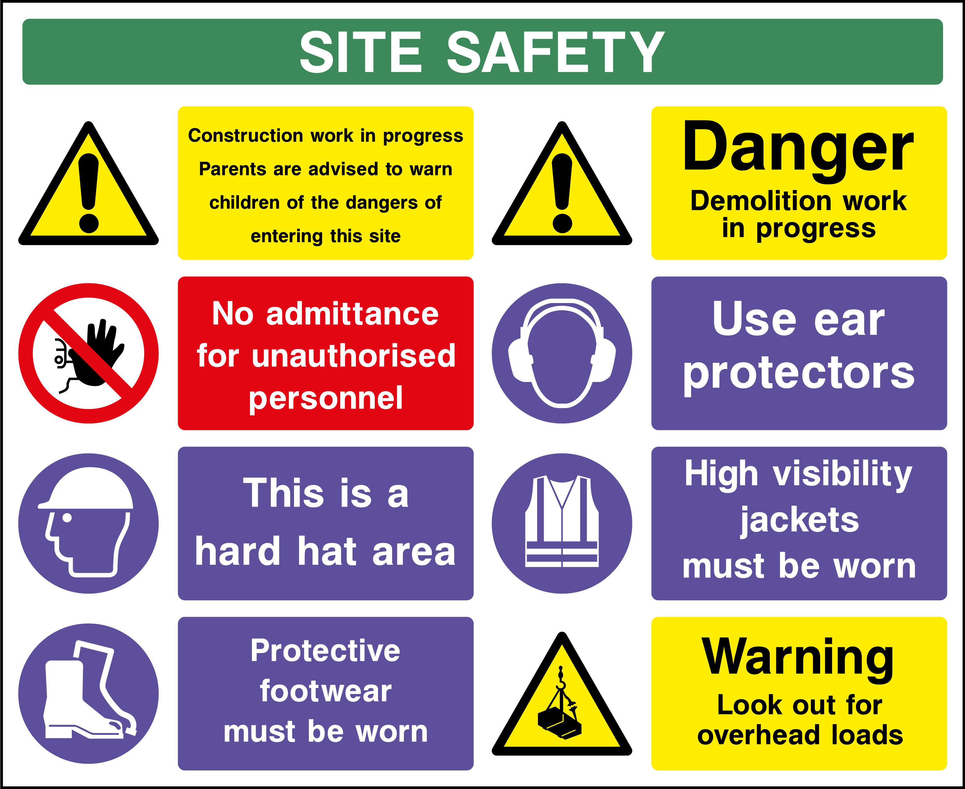 Free Photo Workplace Safety Signs