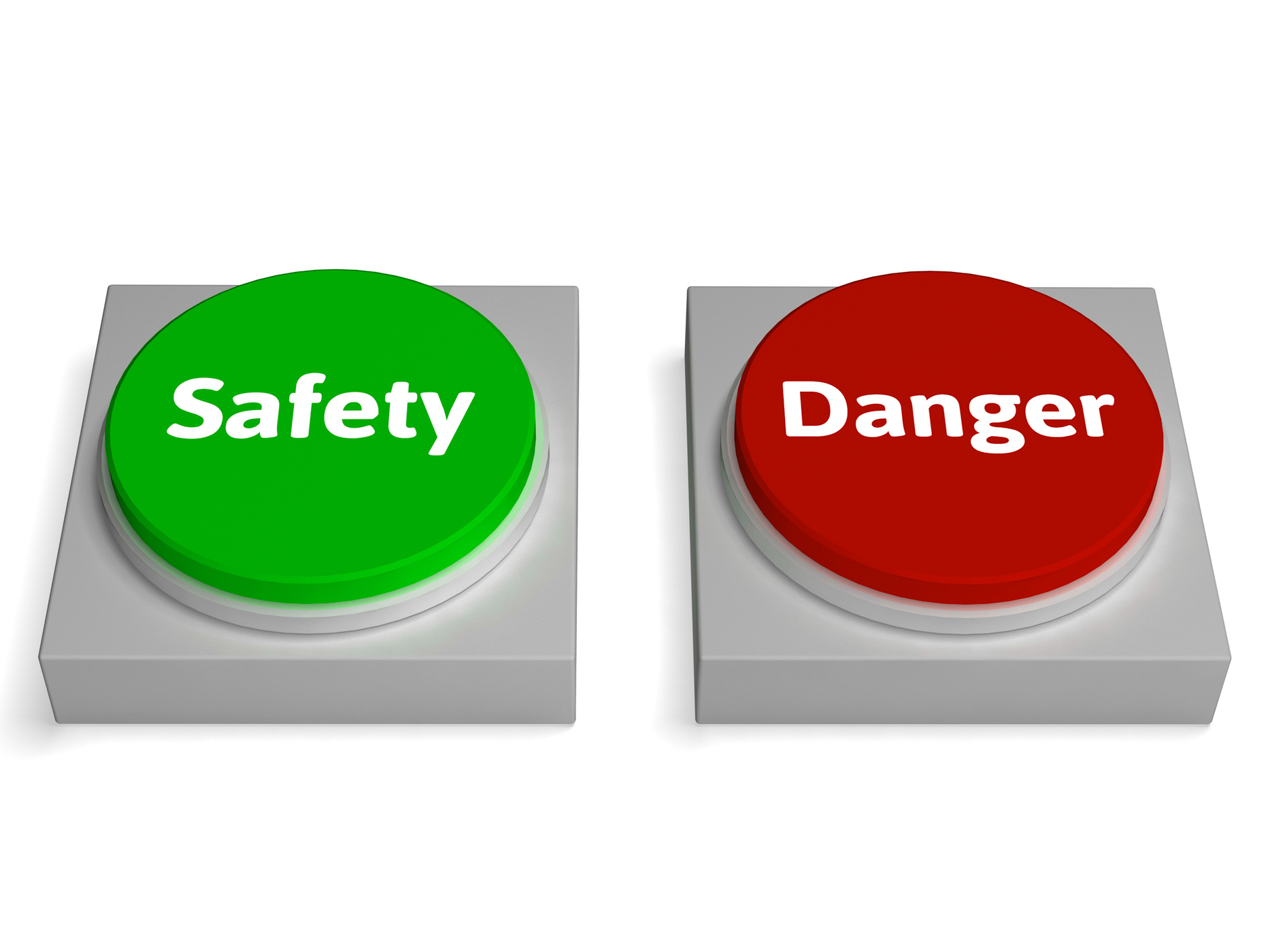 Free Photo Danger Safety Buttons Show Safe Or Harmful