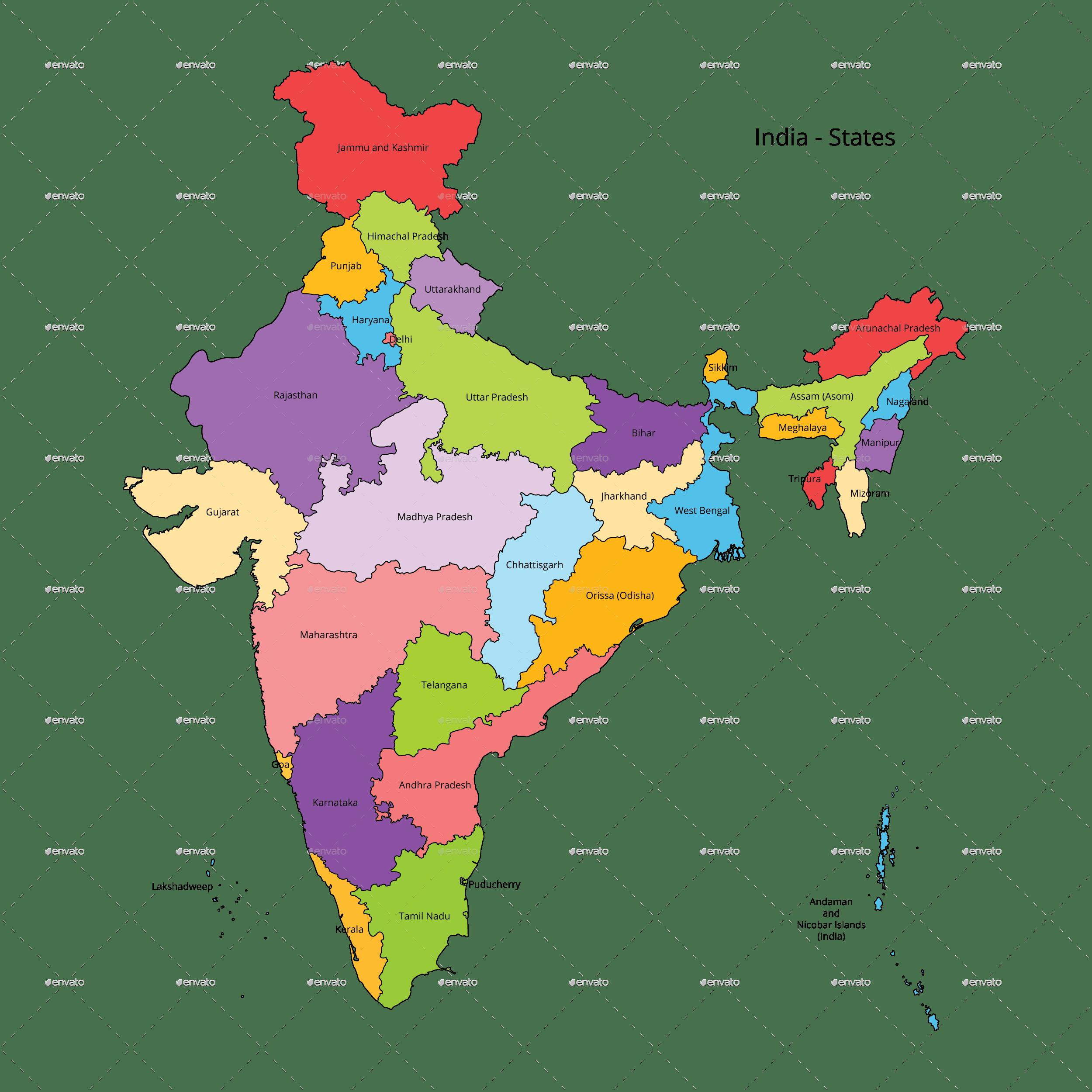 Free Photo India Map