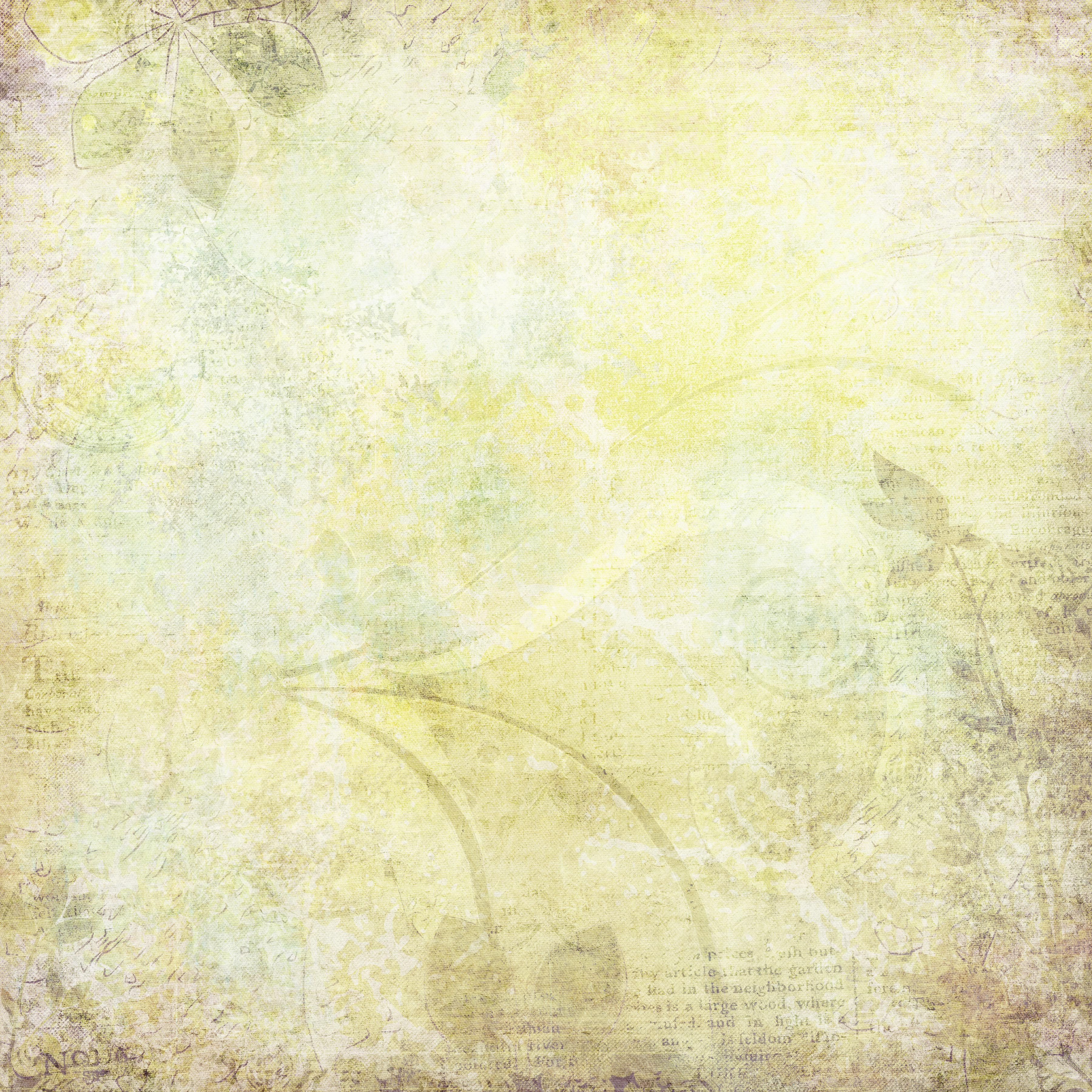 Free Photo Pale Yellow Background Page Ornate