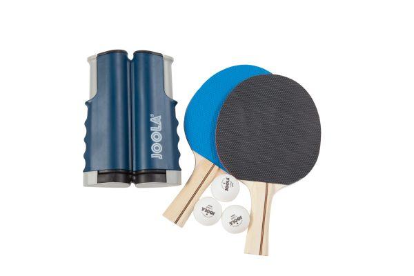 JOOLA ESSENTIALS VARIANT Complete Table Tennis Set (includes Retractable Net, 2 Rackets & 3 Balls)
