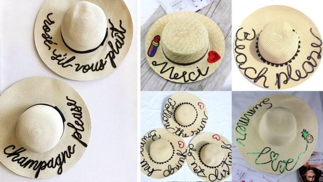 chapéu de palha 04 - Trendy de Verão: Chapéu de Palha Bordado