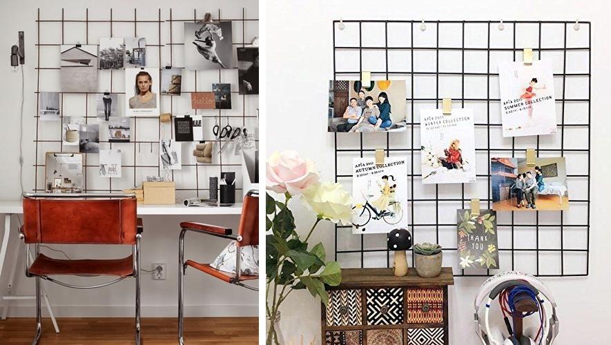 Painel home office 03 - Decorlover: Painel de Tela Aramada