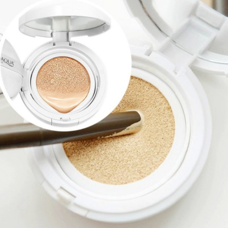 Natural Sunscreen Concealer Moisturizing Foundation Makeup Bare Air Cushion BB Cream 15g Whitening WY5 V2 - A Base Cushion é a Mais Nova Queridinha do Momento