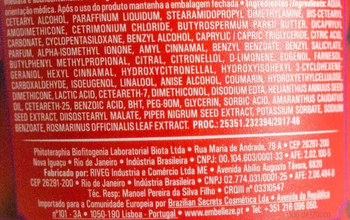 ingredientes 1 700x440 - Resenha: Máscara Mágica Efeito Rapunzel, Sou <3 Dessas