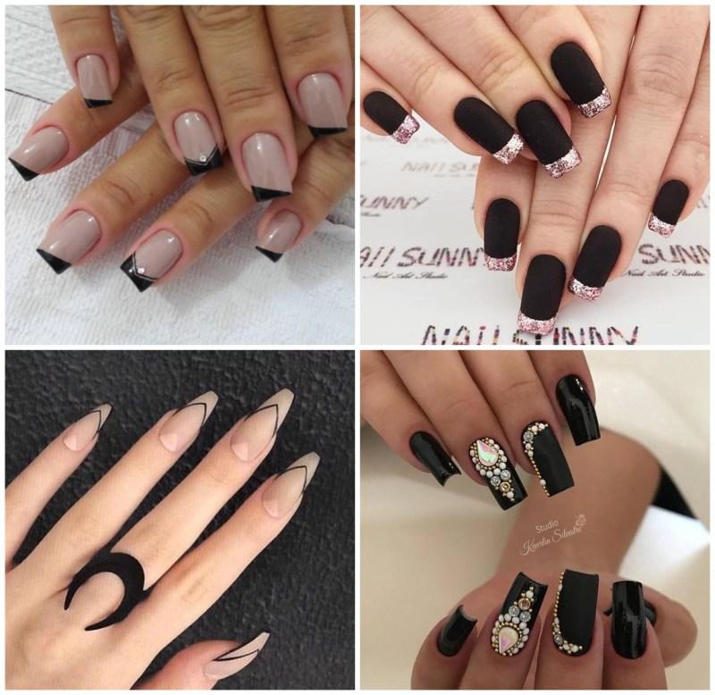 Nail art com esmalte preto - 12 Inspiração de Unhas Pretas + 6 Opções de Esmalte pra Arrasar