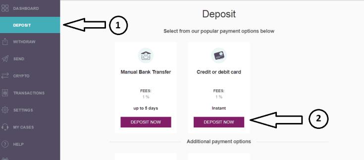 Skrill Visa deposit
