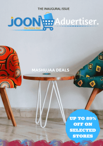 Free Magazine - Joon Advertiser