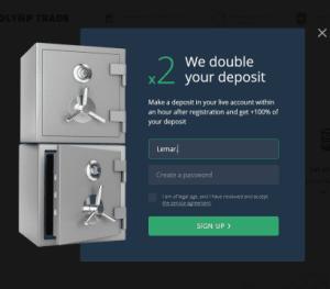 Olymp Trade 100% bonus