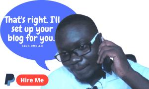 Help me build by blog - kenn omollo