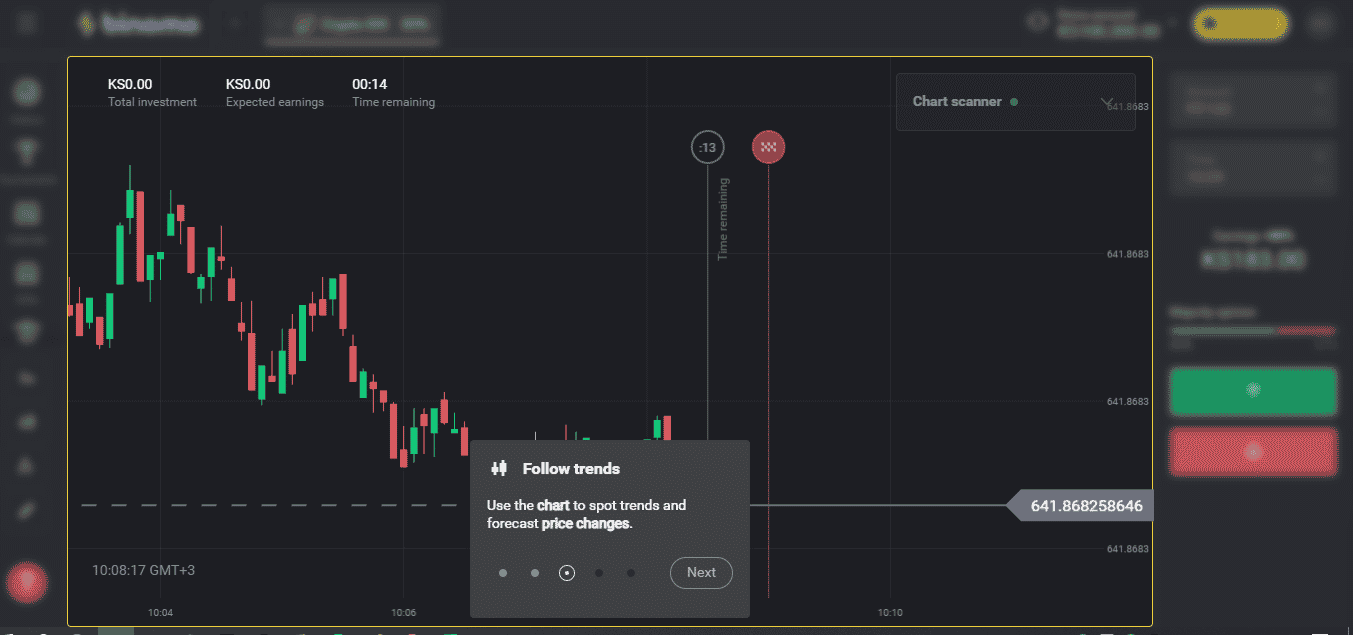 How ro trade with the trend on Binomo