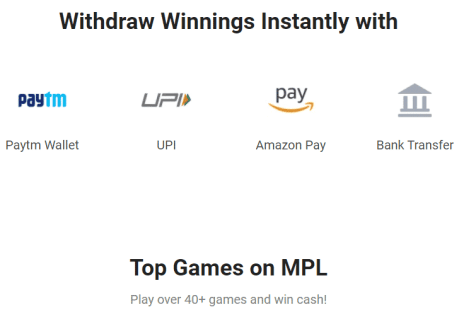 Withdraw your winnings on MPL