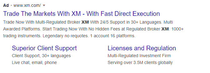 XM Forex ad