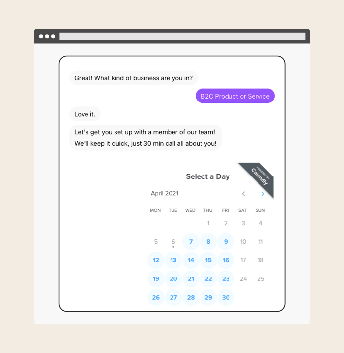 Automate repetitive tasks with our calendly integration.