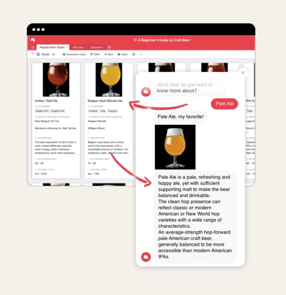 among our chatbot integrations, you can use Integromat or Zapier to connect with Airtable.