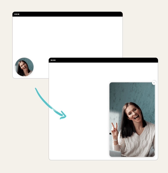 You can add a chatbot video of yourself as avatar, it will act as a magnet.