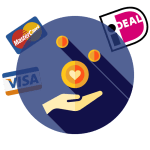 Donate with iDeal, Credit Card, SEPA, etc.