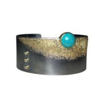 3. Jenny Reeves: Cuff with Chrysocolla, $2150