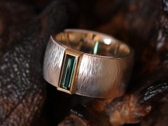 Luxury in Design tourmaline silver and gold ring, $544