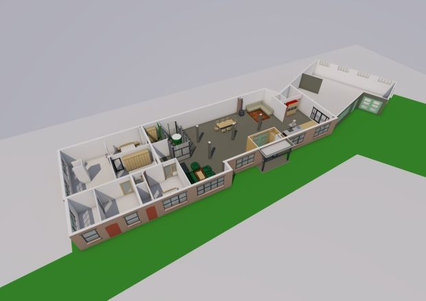 herbestemming timmerfabriek nieuwe indeling als woning