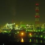 水島コンビナートの夜景がロマンチック|魅惑的なファンタジースポット