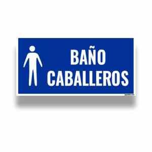 Comprar señalizacion baño caballero Bogotá