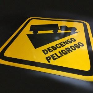 Señalizacion Vial-Descenso-Peligroso Bogota