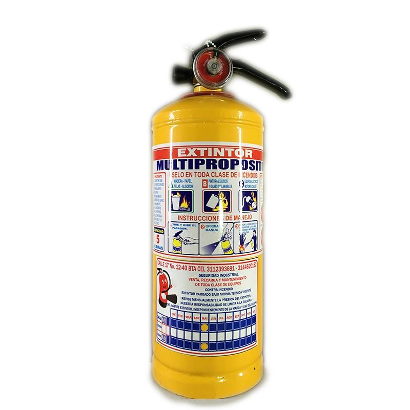 Extintor multiproposito Bogotá 5 libras