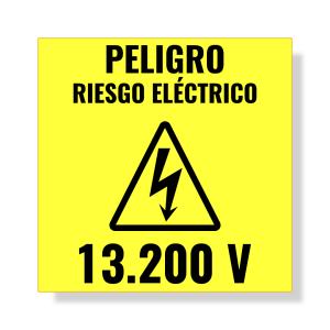 aviso riesgo electrico