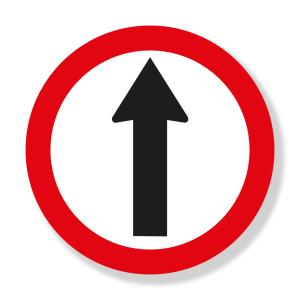Siga de frente vial