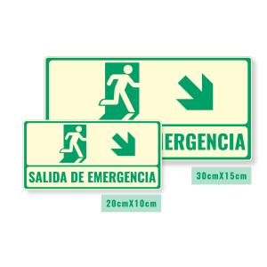 Señalización salida de emergencia