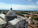 View from the top of the Leaning Tower of Pisa