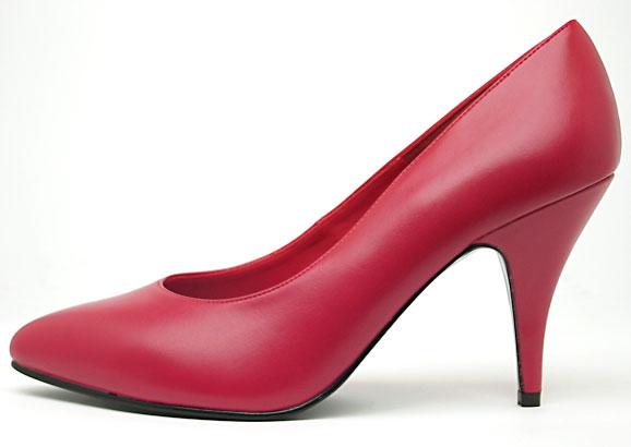 Red High-Heel Pumps