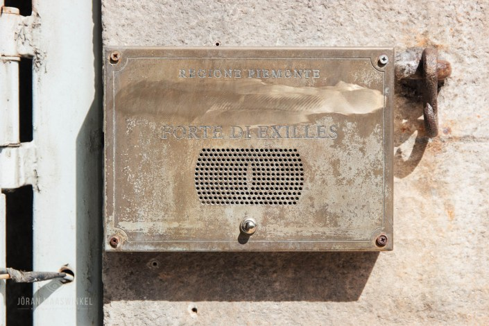 Name plate Fort Exilles
