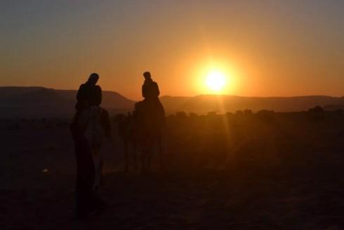 wadi rum - Camel ride -