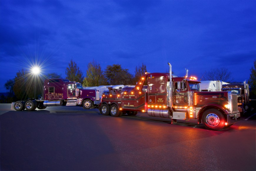 Commercial Photography Trucking Towing