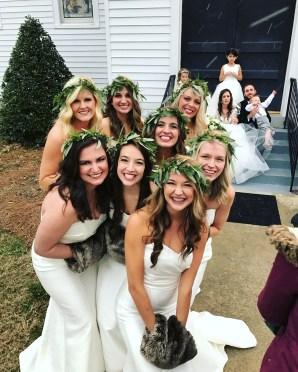 when it snows on your best friend's wedding day.