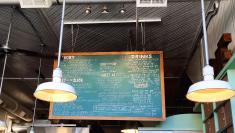 How cute is this chalkboard menu?