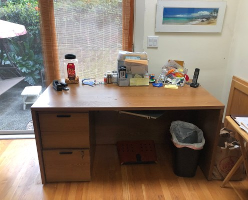 Home Office after I organized