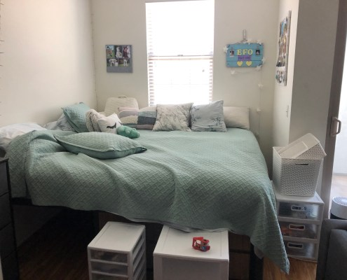 Student's Dorm Room Before Packing