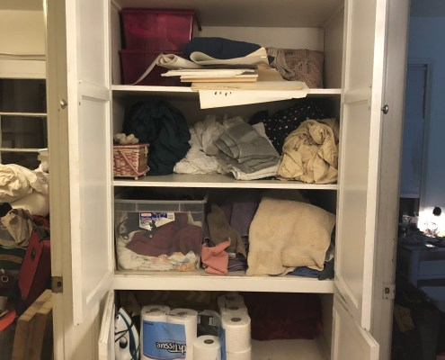 Unorganized Hall Closet