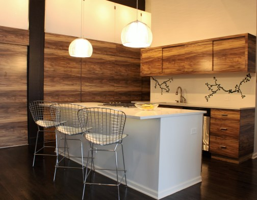 Kitchen Island with pendant lighting