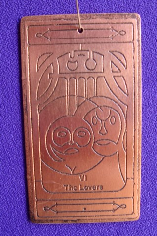 The Lovers copper talisman