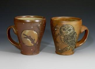 Saw-whet Owl & Moon Mugs