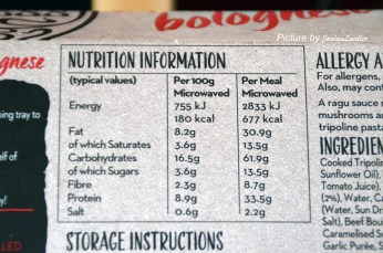 Pizza Express Pasta Nutritional Facts